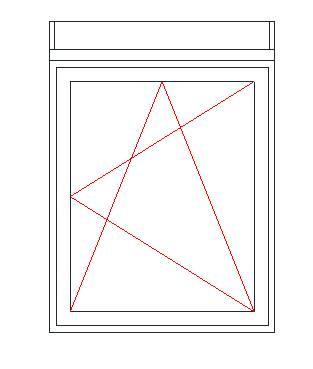 Jobbos Nyíló-Bukó ablak felsőtokos redőnnyel