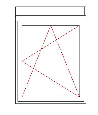 Jobbos Nyíló-Bukó ablak külső tokos redőnnyel